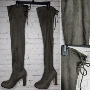Cape Robbin faux suede thigh high Boot size 7